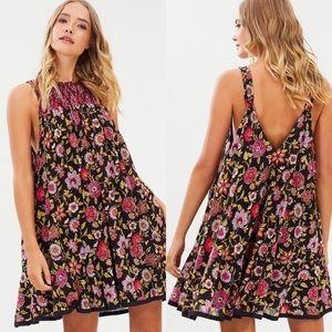 FREE PEOPLE • Oh Baby Floral Mini Dress Sz Medium